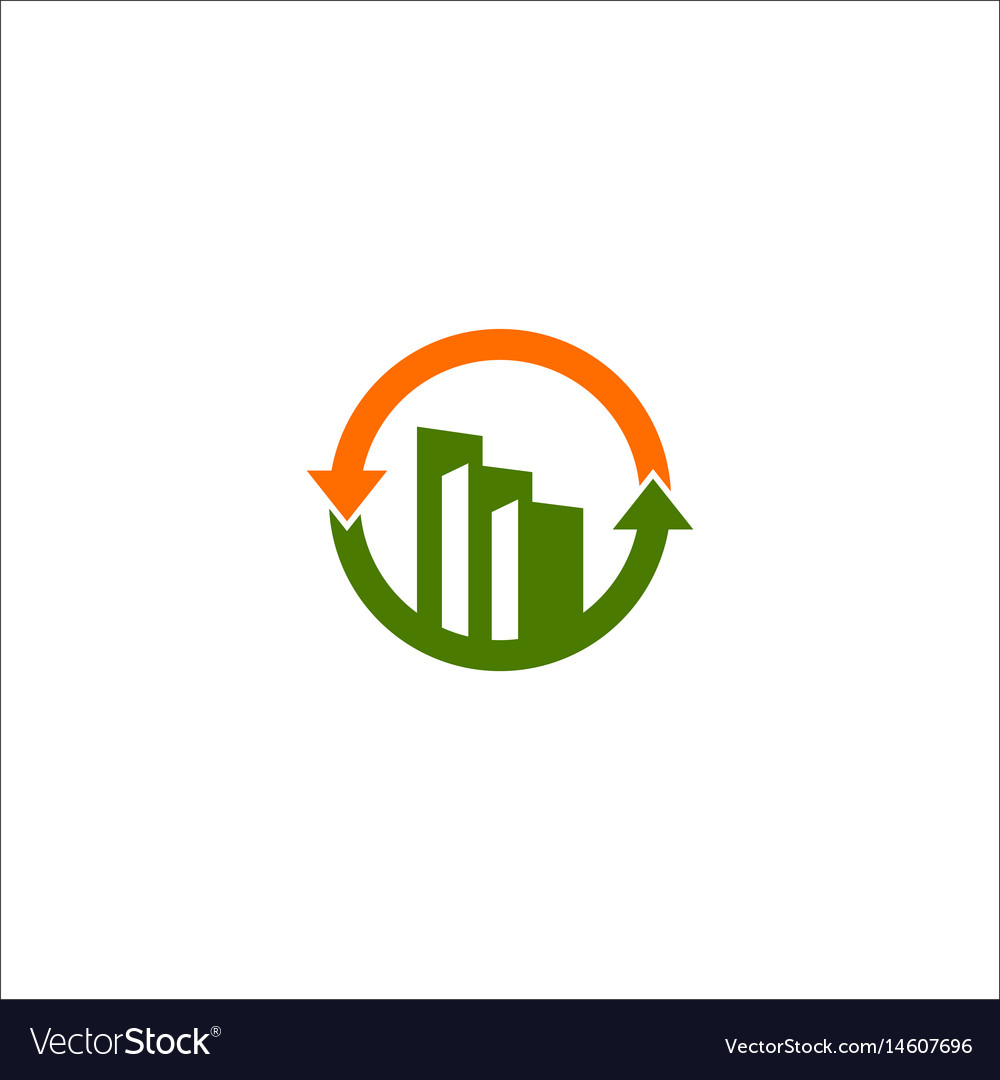 Business finance building logo vector image
