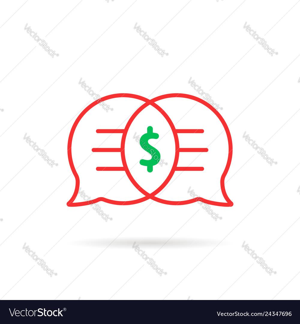 Business negotiations linear logo