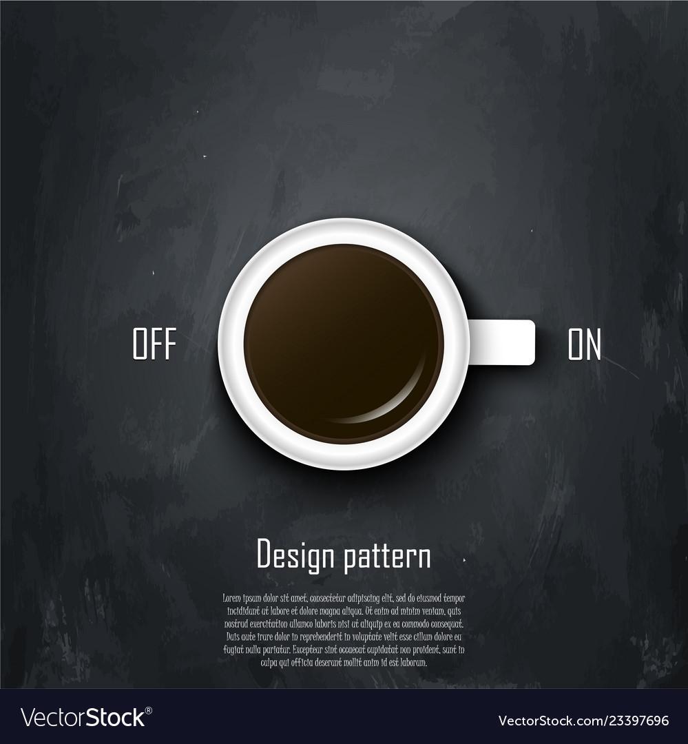 Coffee conception metaphor for idea