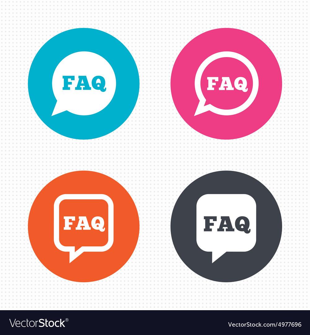 FAQ information signs Help speech bubbles
