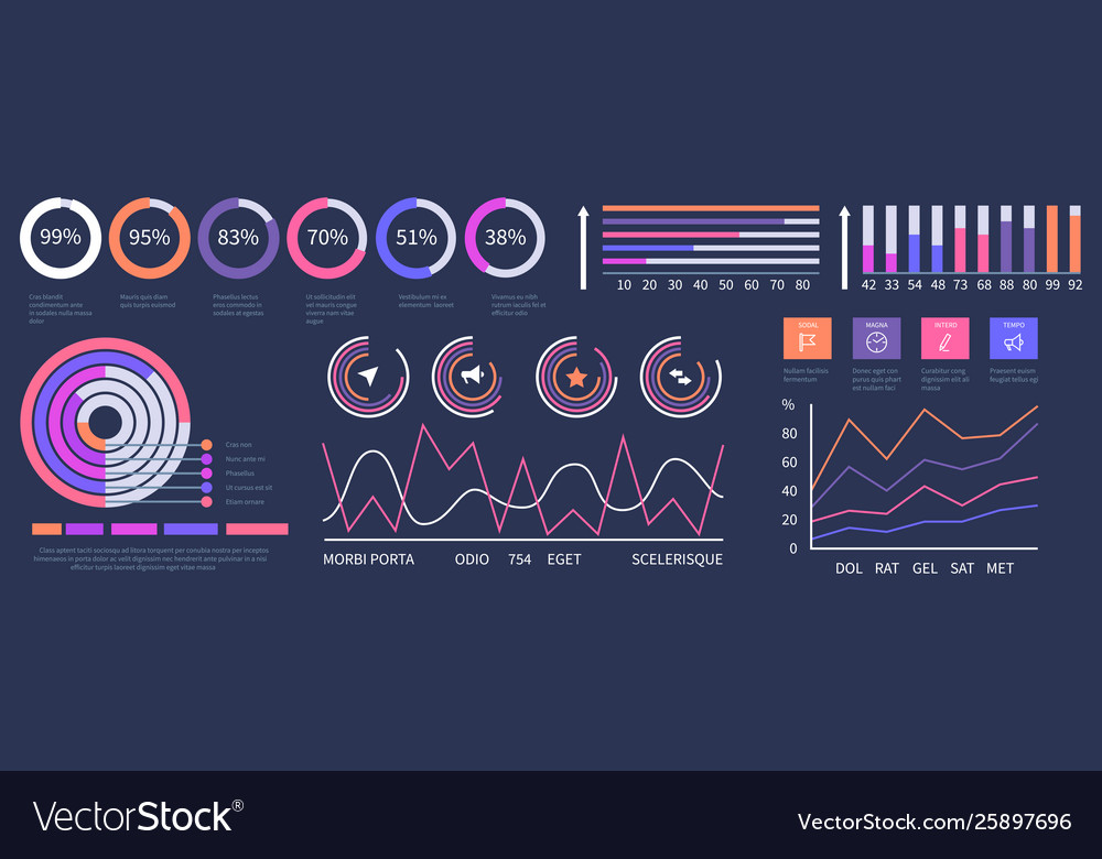 Infographic dashboard interface