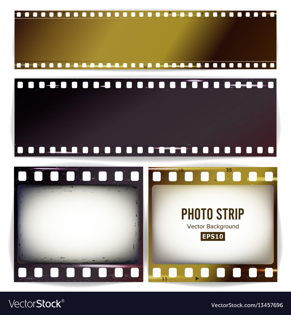 Photo strip realistic empty frame strip