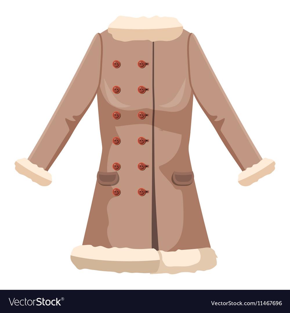 Sheepskin jacket icon cartoon style