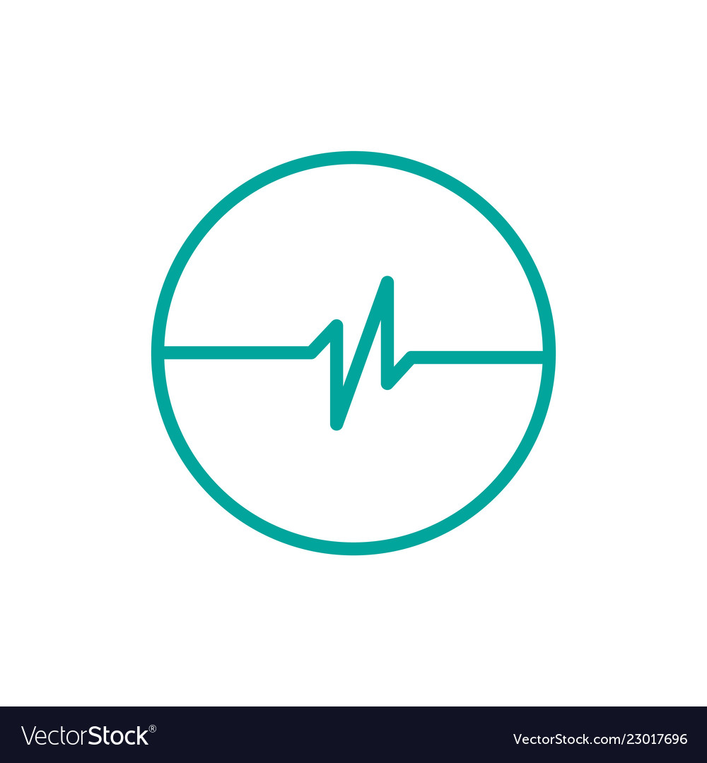 Simple pulse with circle logo template simple
