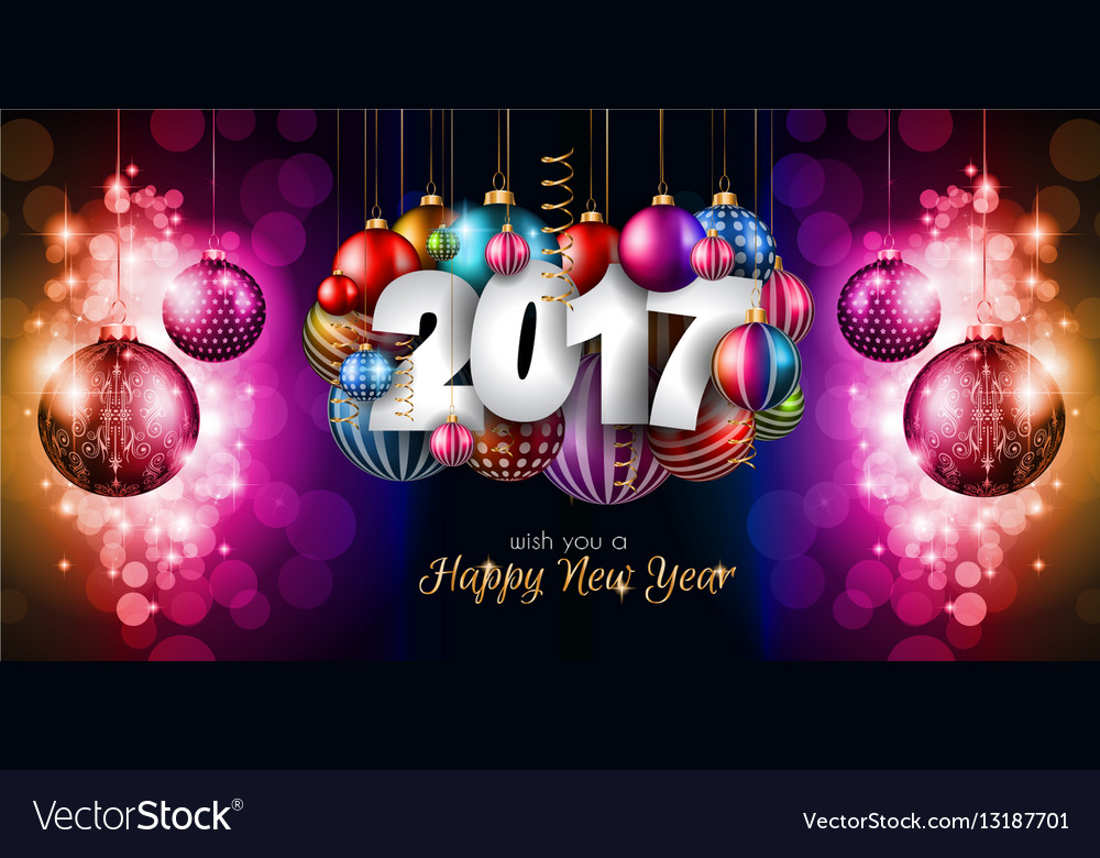 2017 Happy New Year Background for your Seasonal