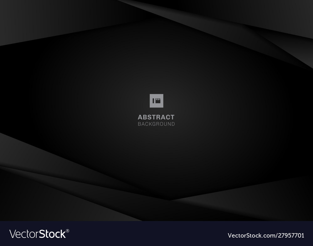 Abstract template black geometric frame layout