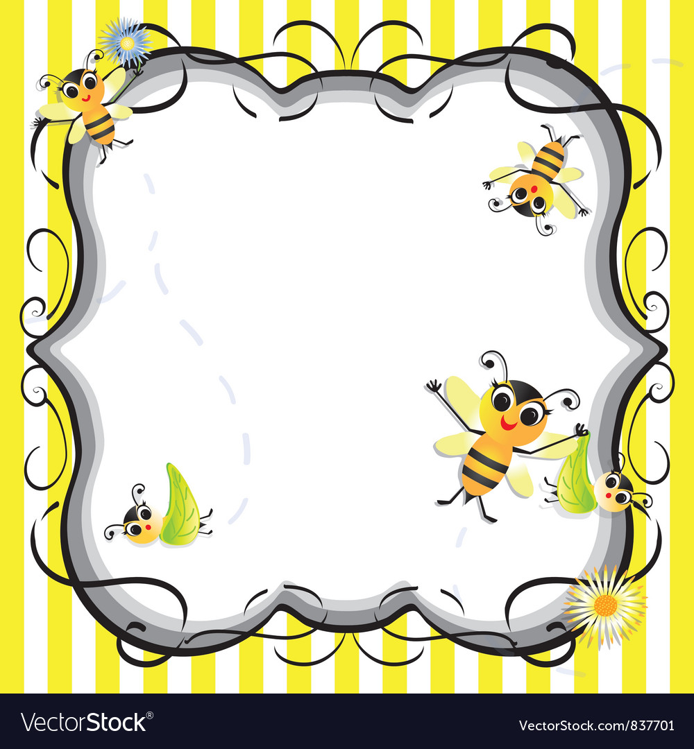 Bee baby shower party invitation Royalty Free Vector Image