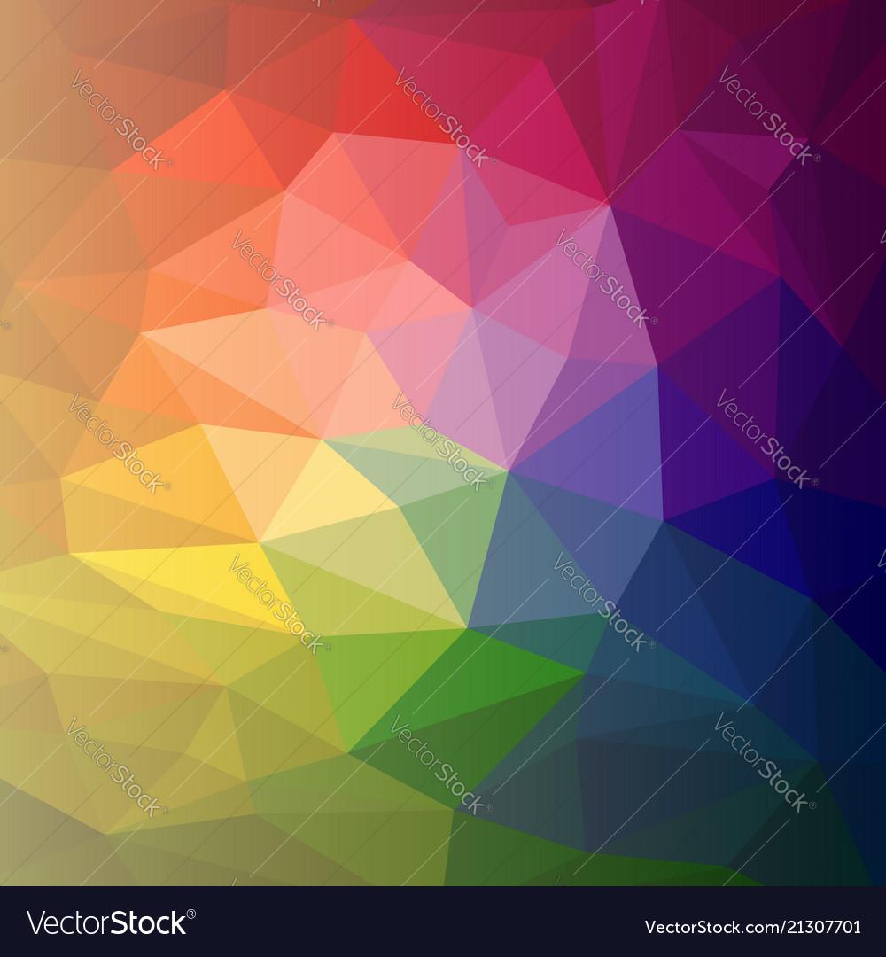 Colorful abstract rainbow polygon