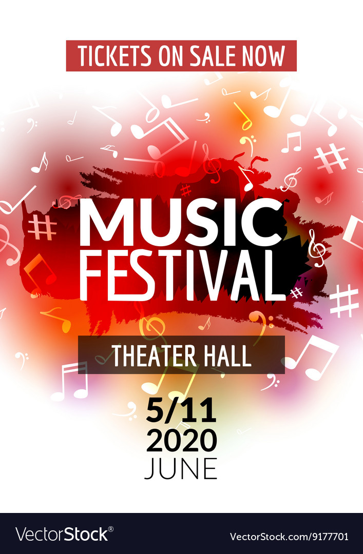 Colorful music festival concert template
