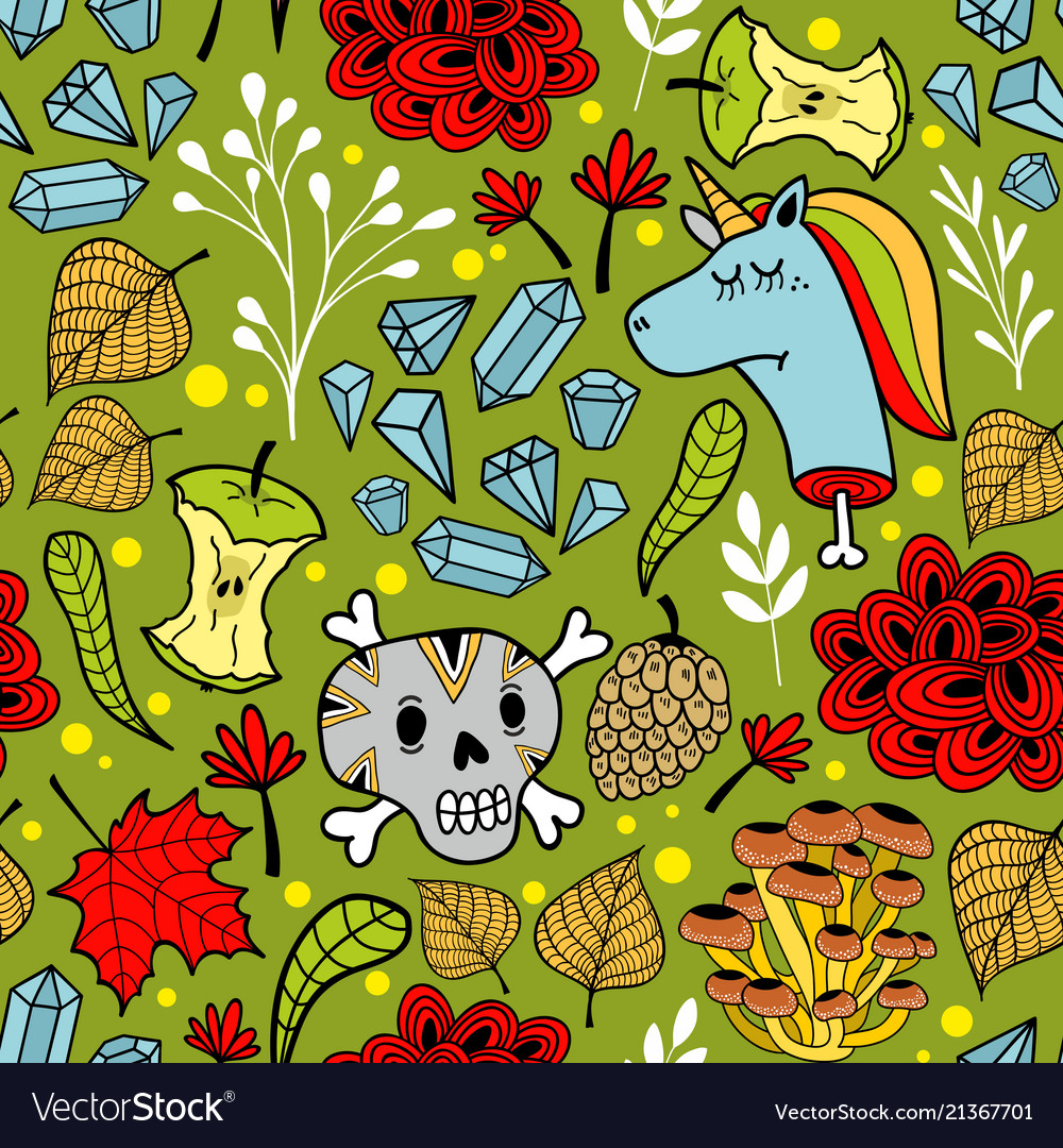 Colorful seamless pattern with sugar