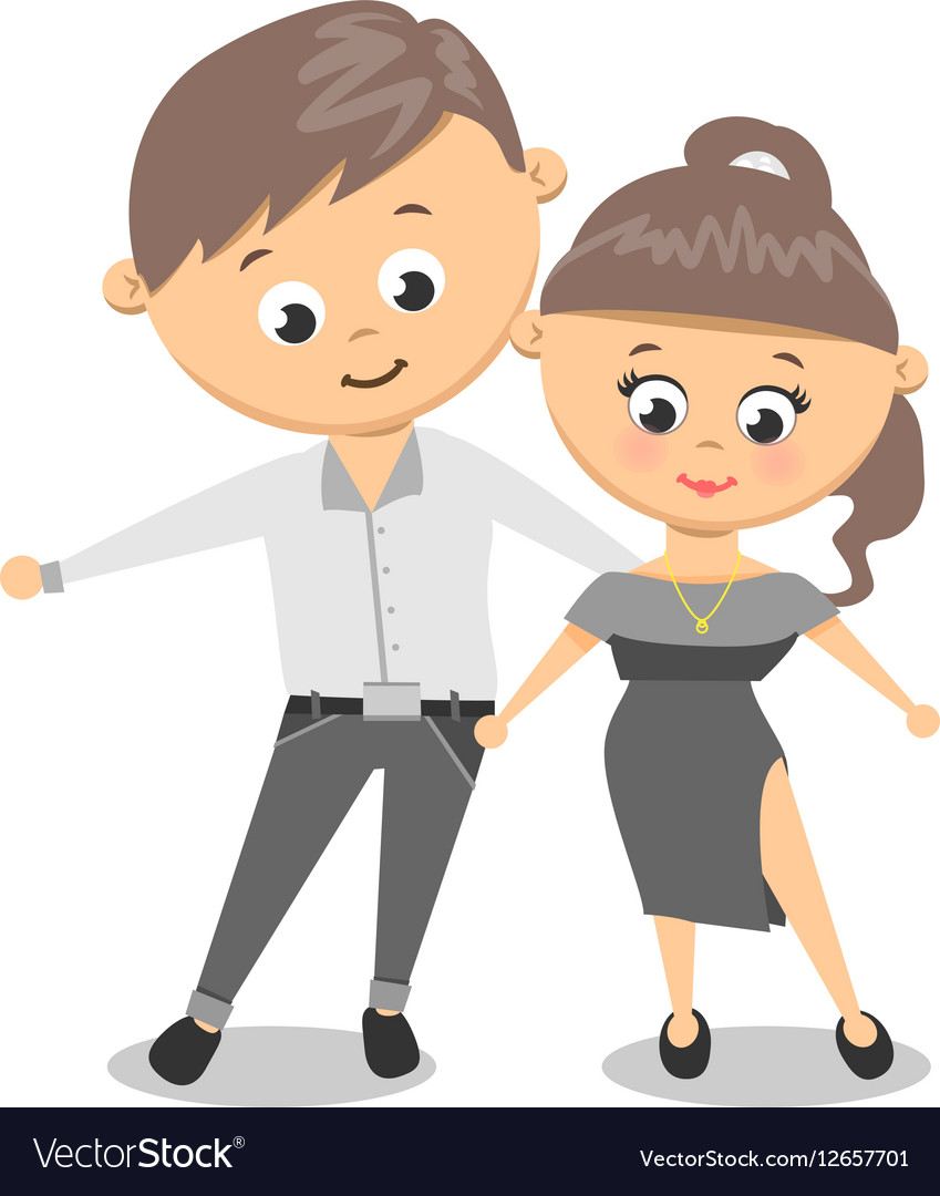 Dancing couple Man and Woman Dance vector image