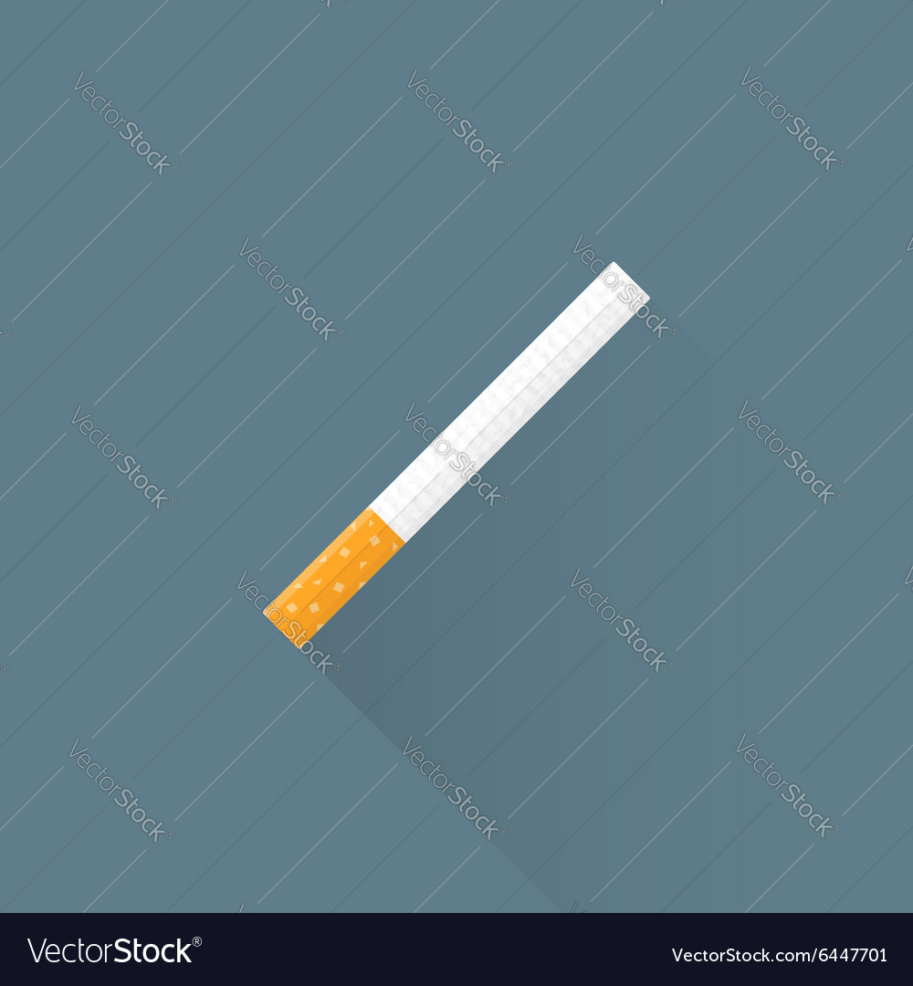 Flat usual cigarette icon