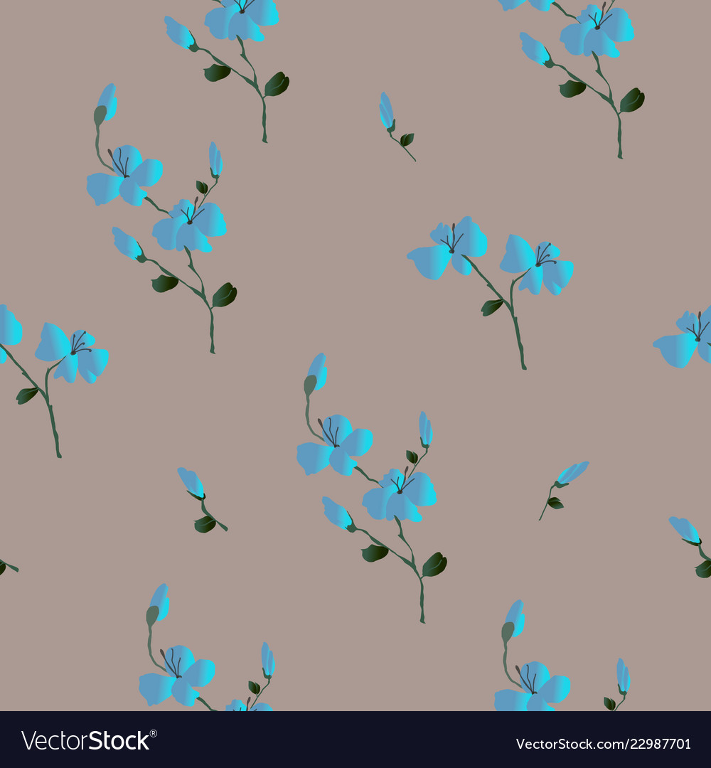 Floral seamless pattern classic blooming leaves