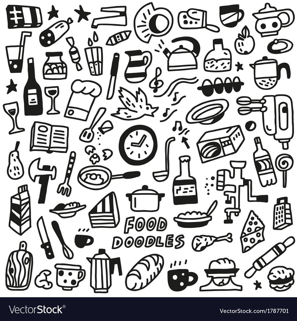 Food Doodles Royalty Free Vector Image Vectorstock
