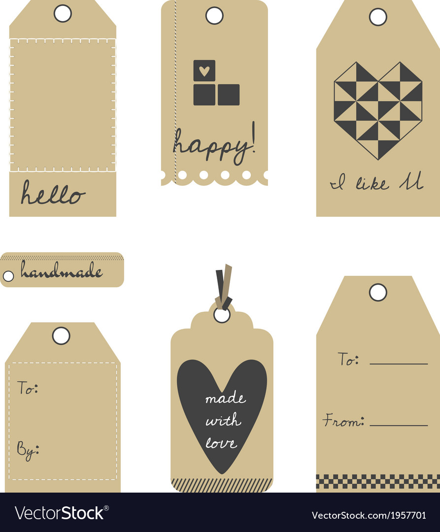 Gift tags or labels set