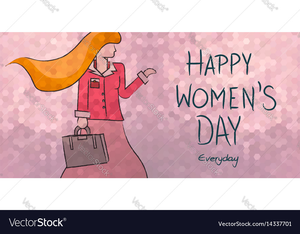 Happy womens day everyday business woman design