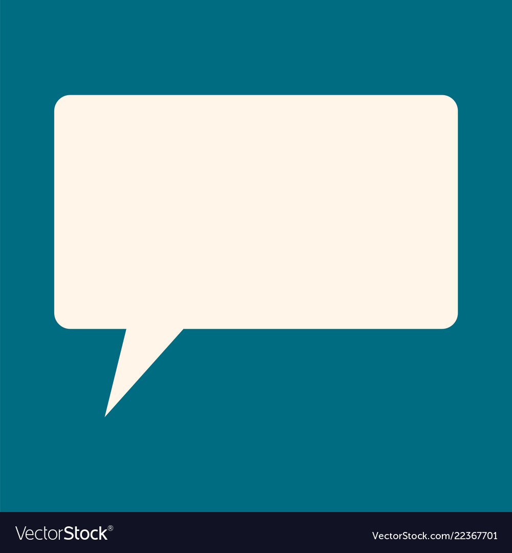 Speech bubble icon flat style