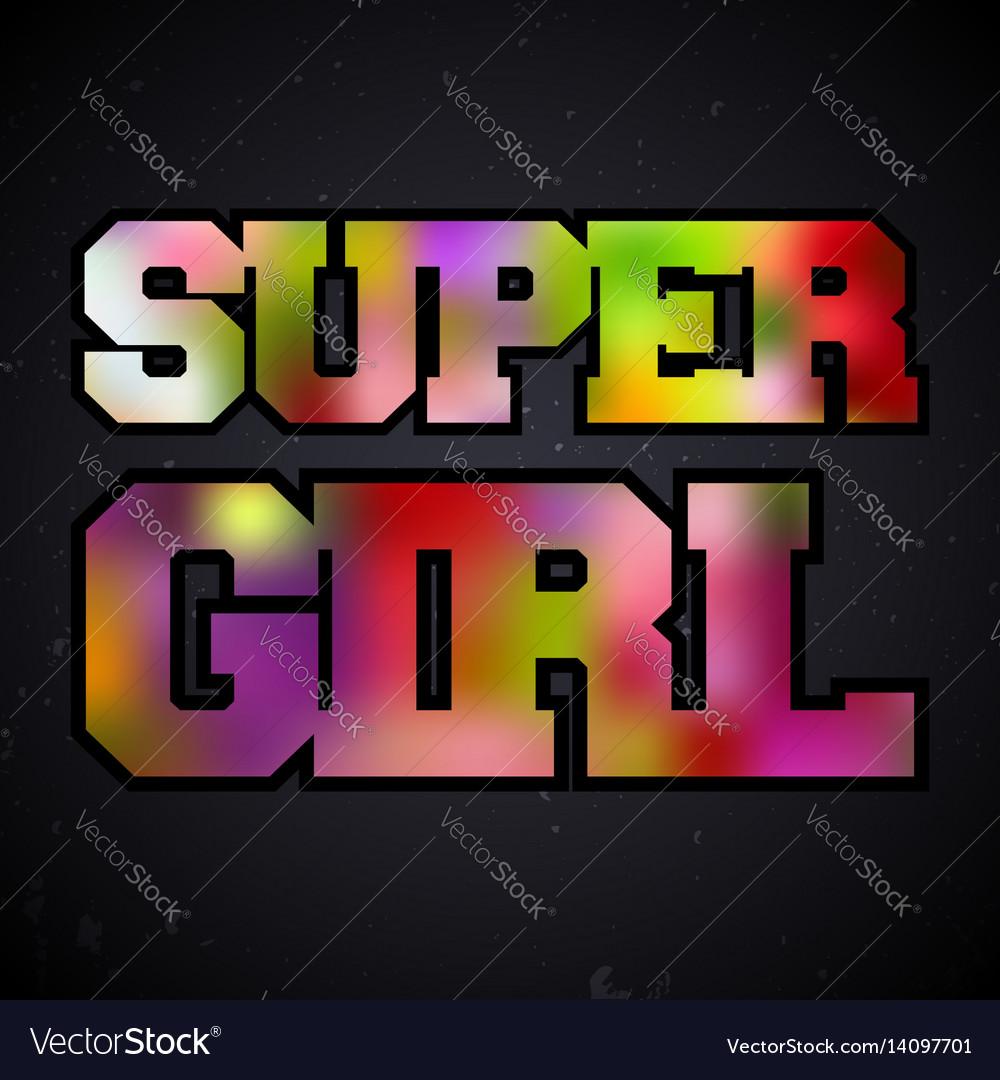 Super girl vintage stamp