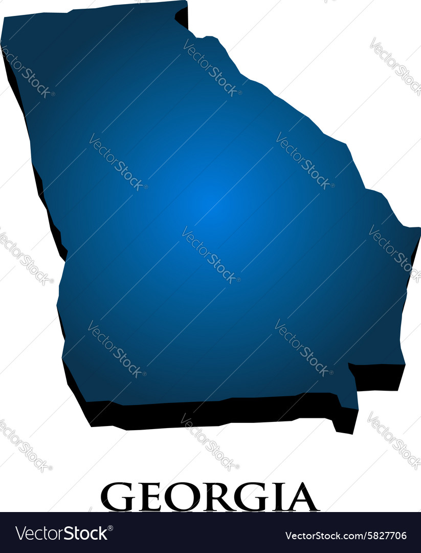Free Map Of Georgia.3d Graphic Map Of Georgia State