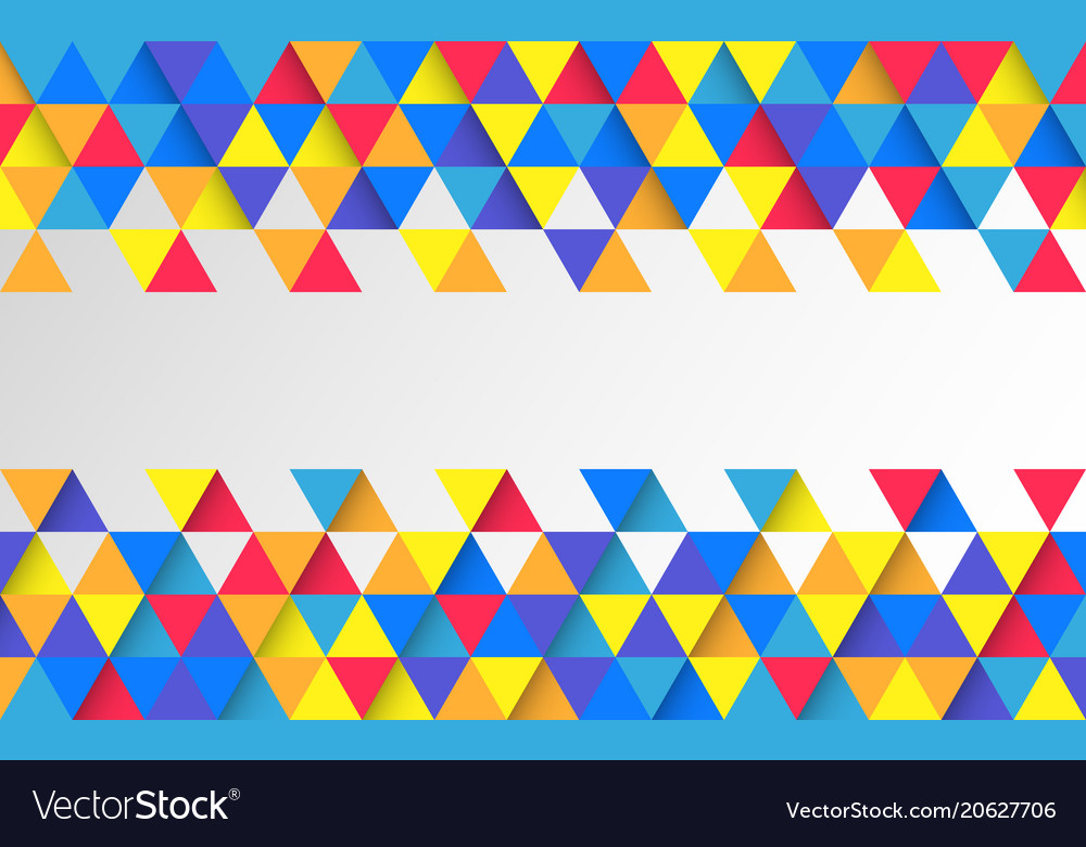 Abstract colorful geometric backdrop bright vector image