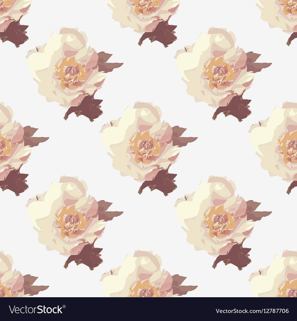 Bouquet of white Peony flowers Seamless pattern