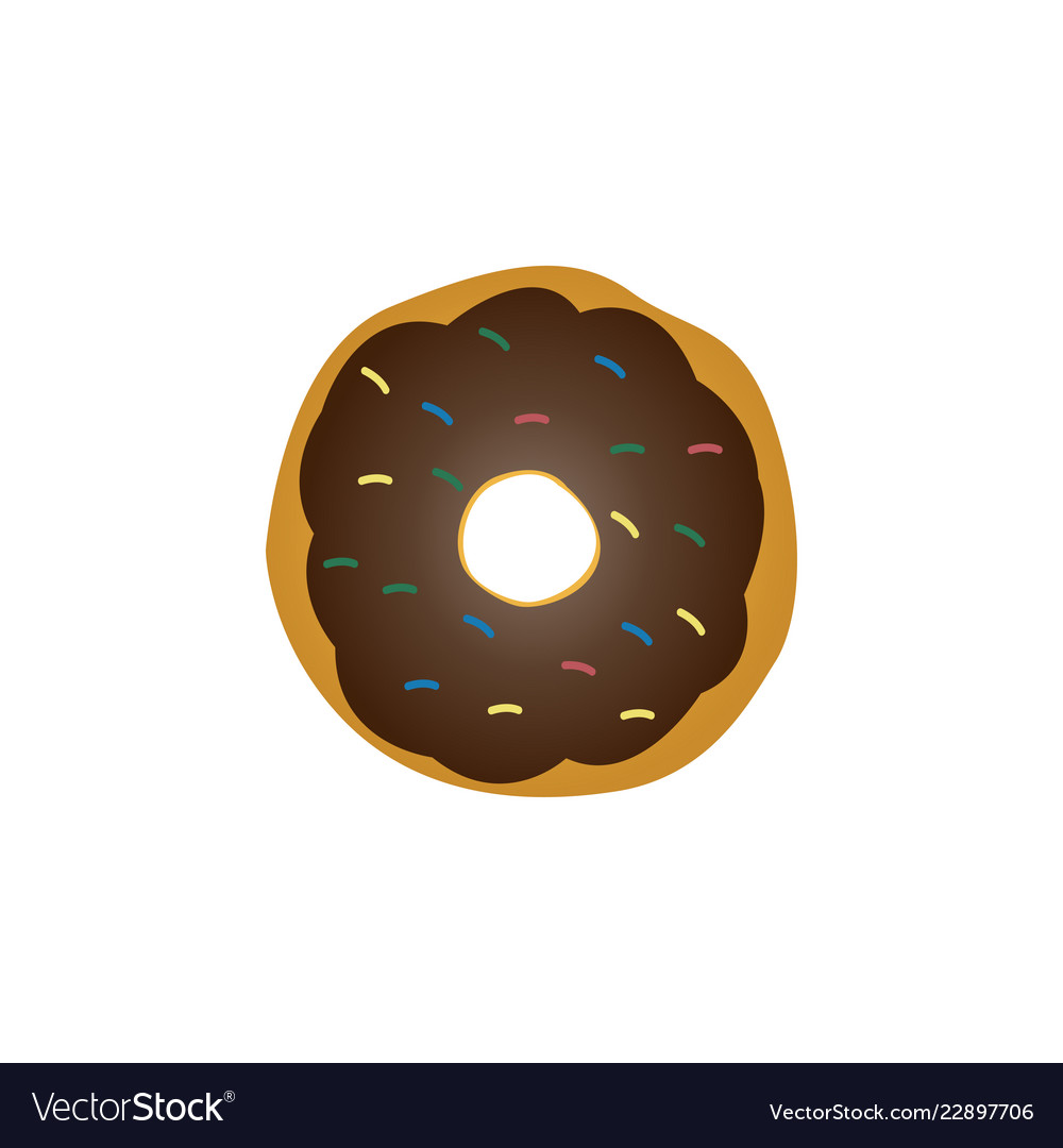 Donut graphic design template