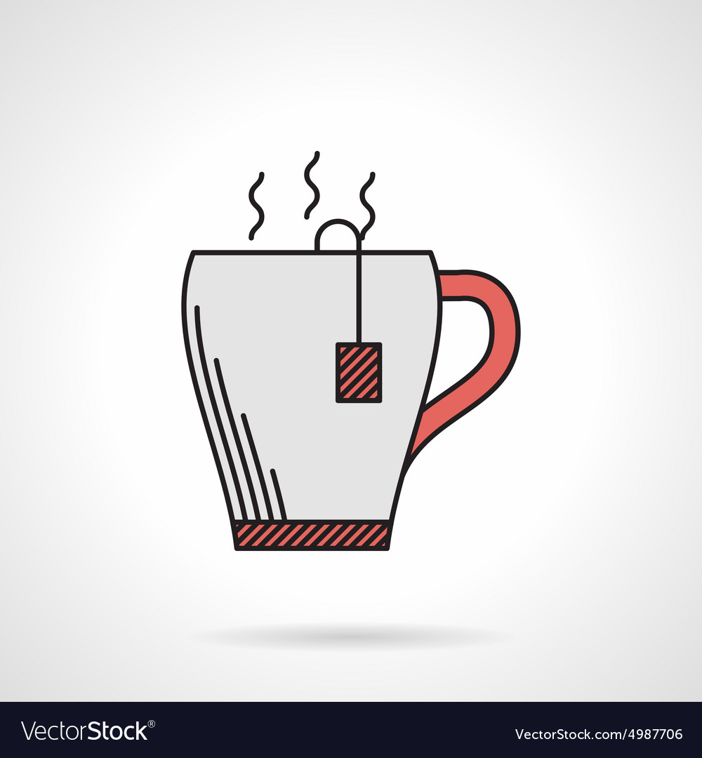 Elegant teacup flat color icon