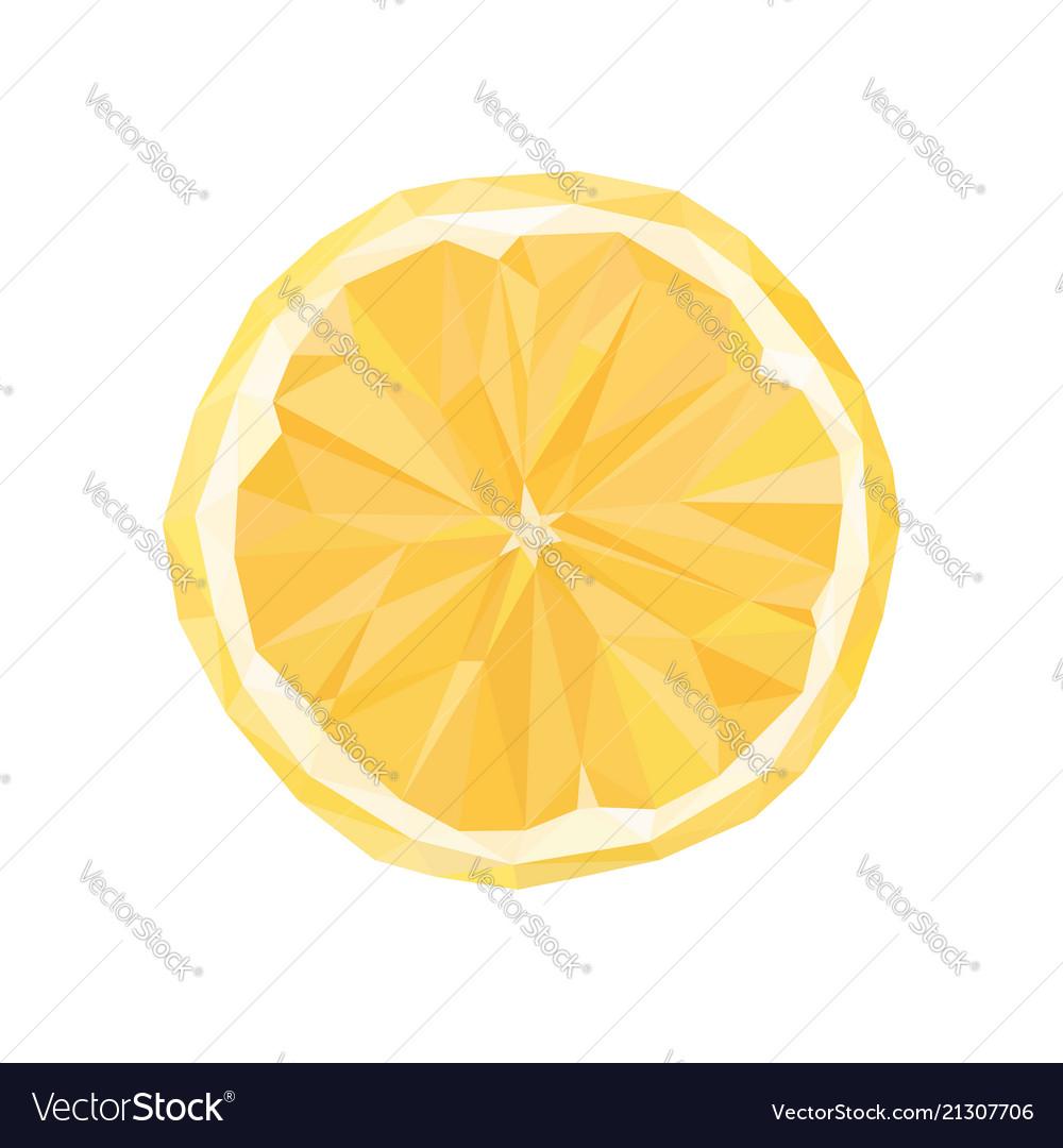 Polygonal orange abstract geometric