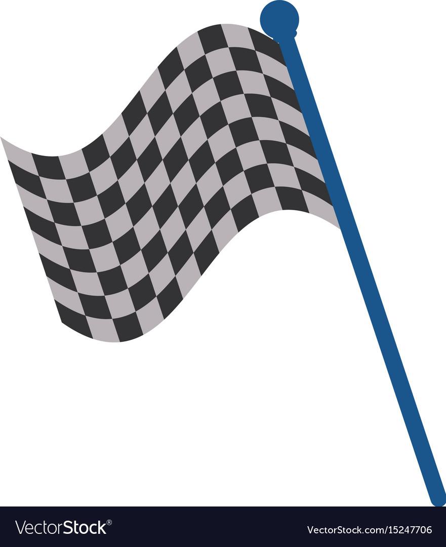 Racing flag flat
