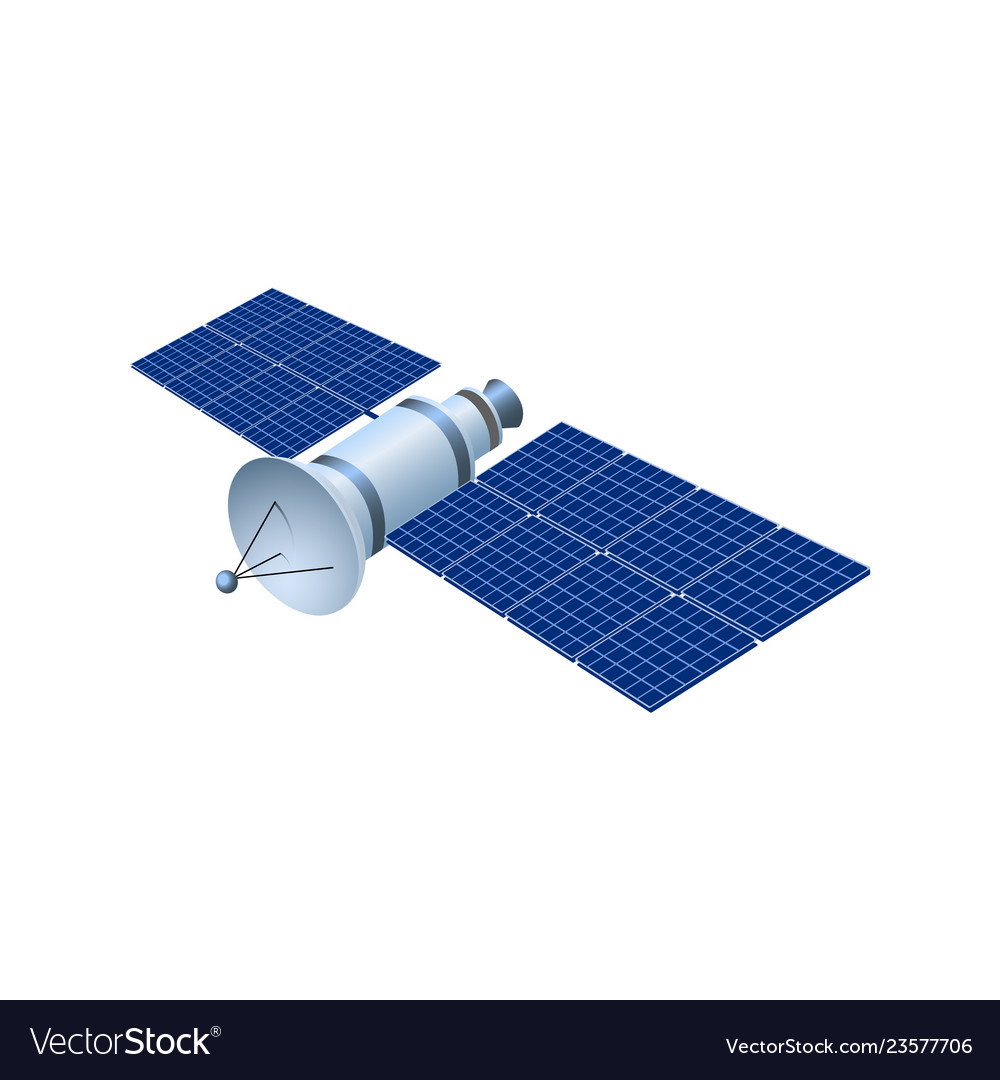 Realistic 3d satellite wireless satellite