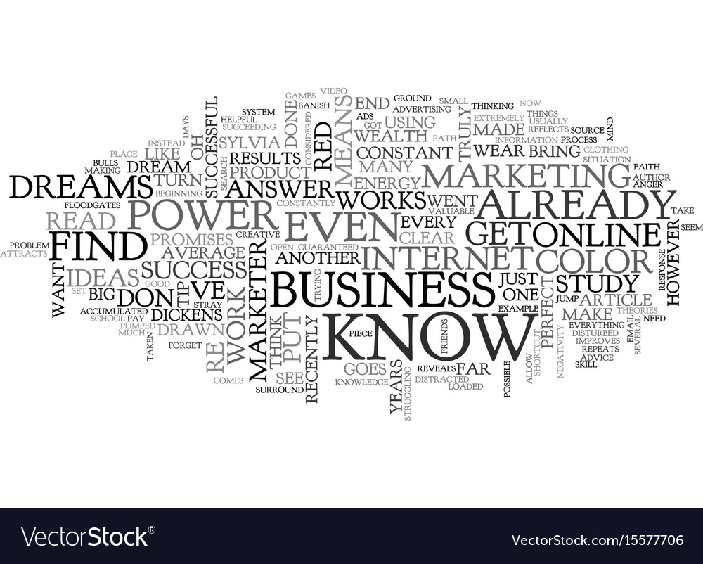 What color is power text word cloud concept