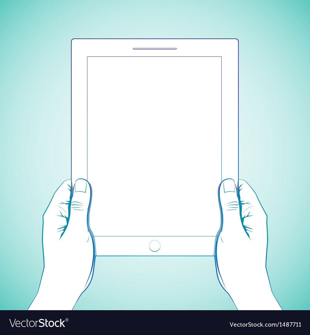 2 Hand Holding Tablet