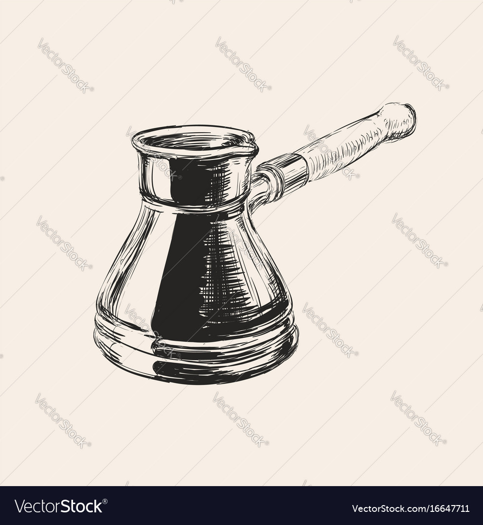 Cezve coffee vector image