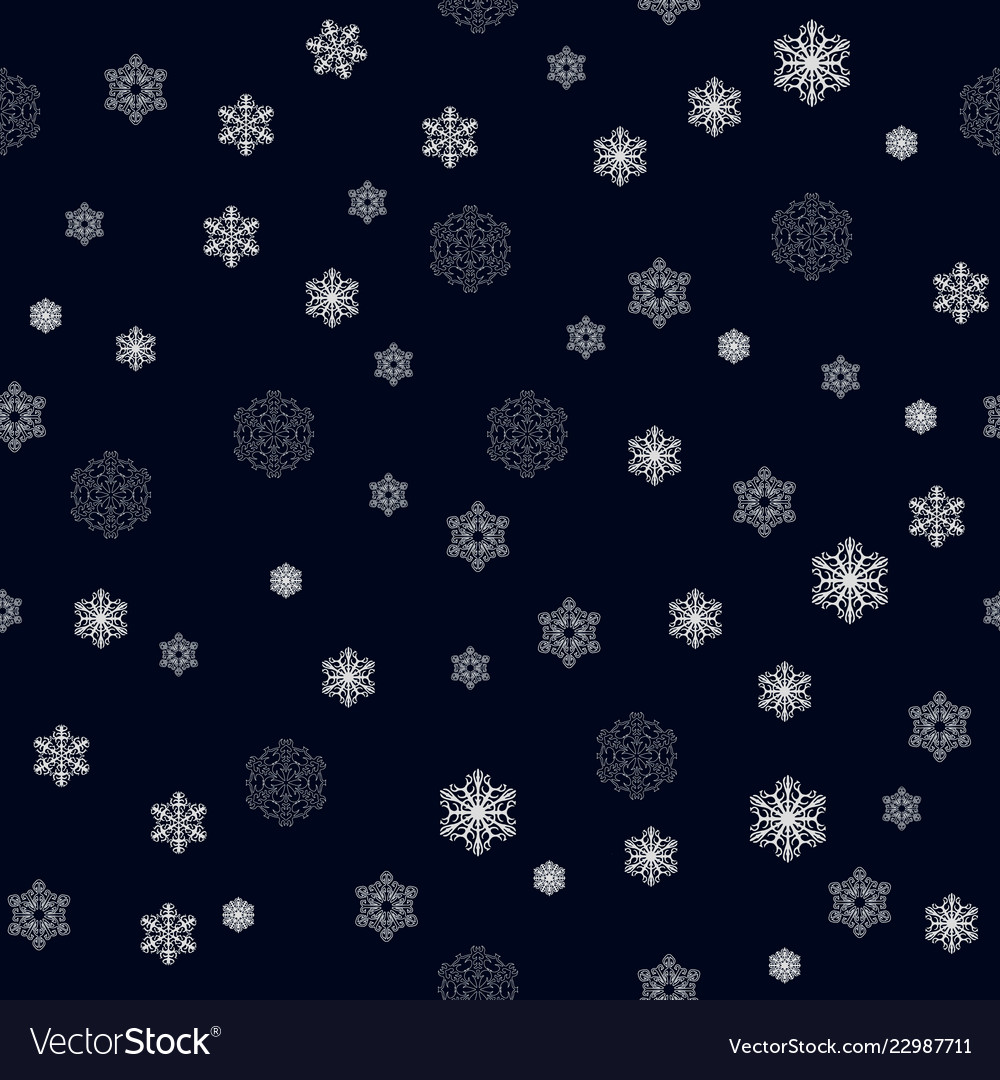 Christmas seamless pattern with big and small