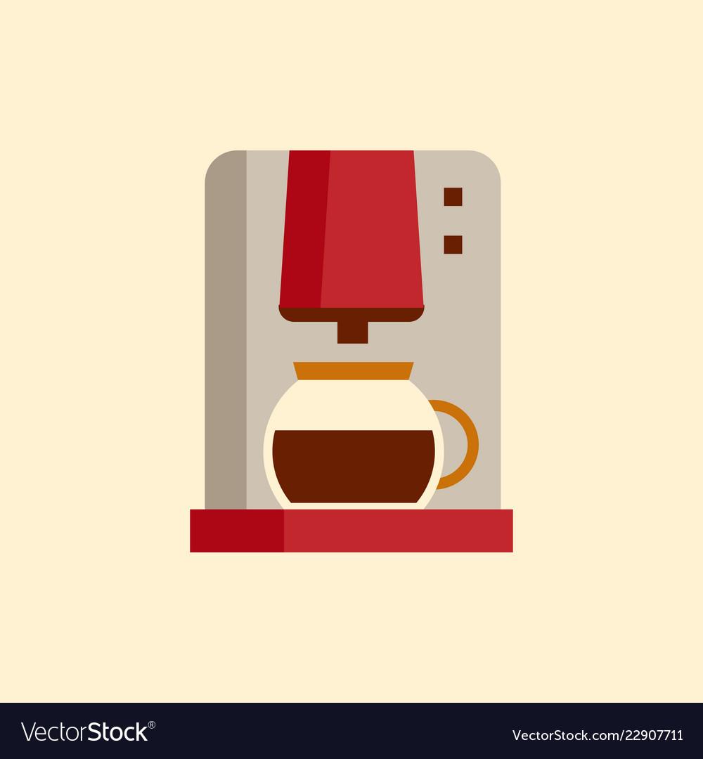 Coffee machine icon flat style modern design