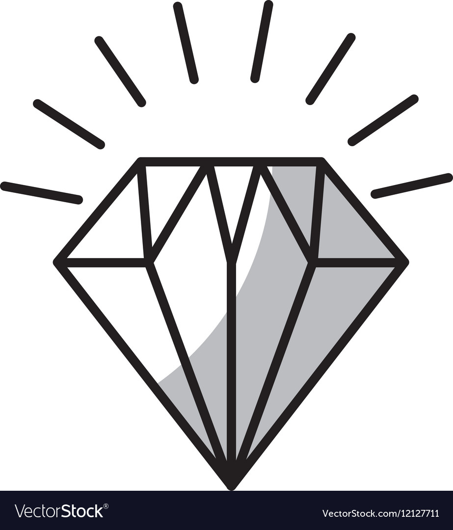 Diamond flat isolated icon