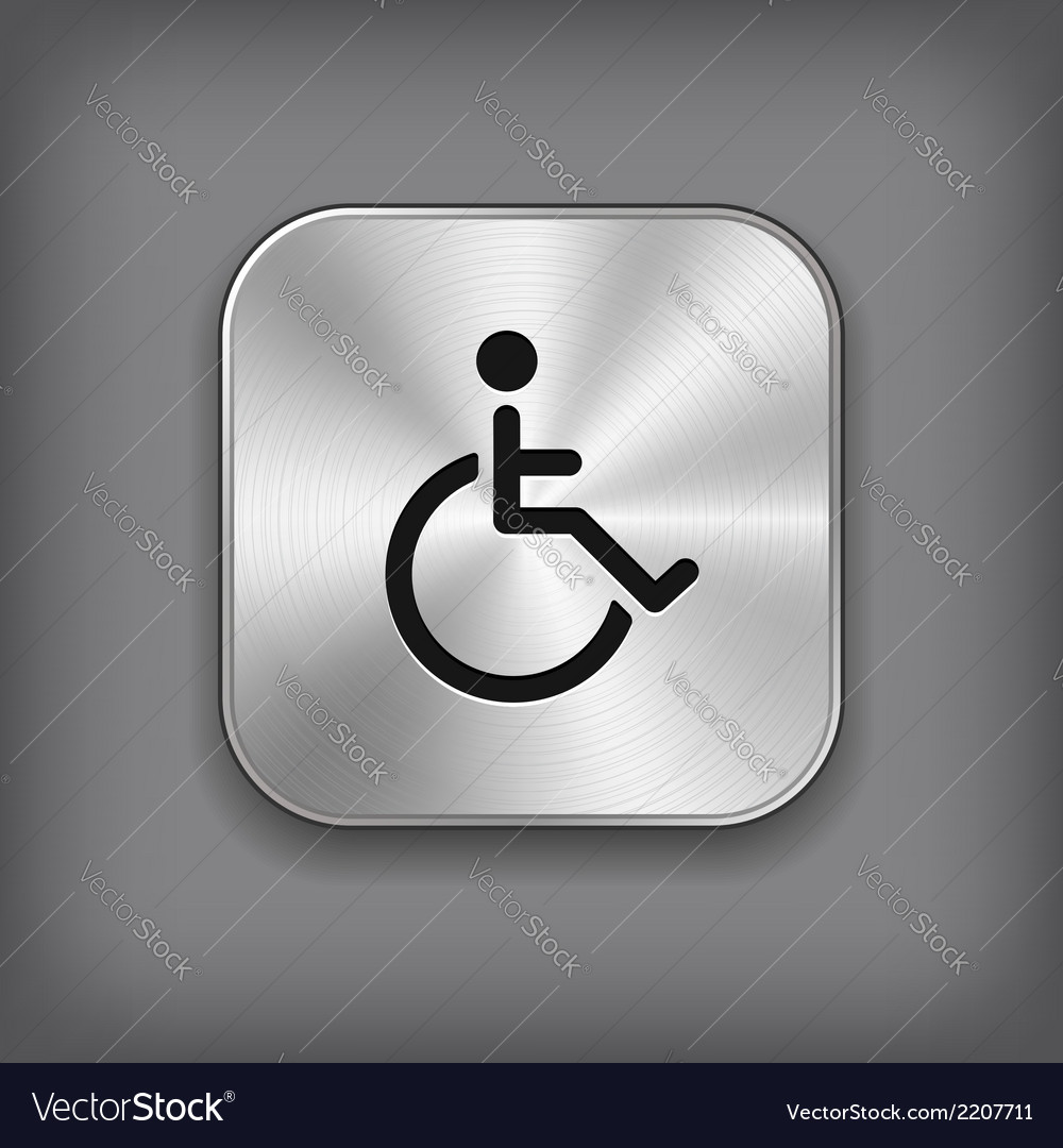 Disabled icon - metal app button