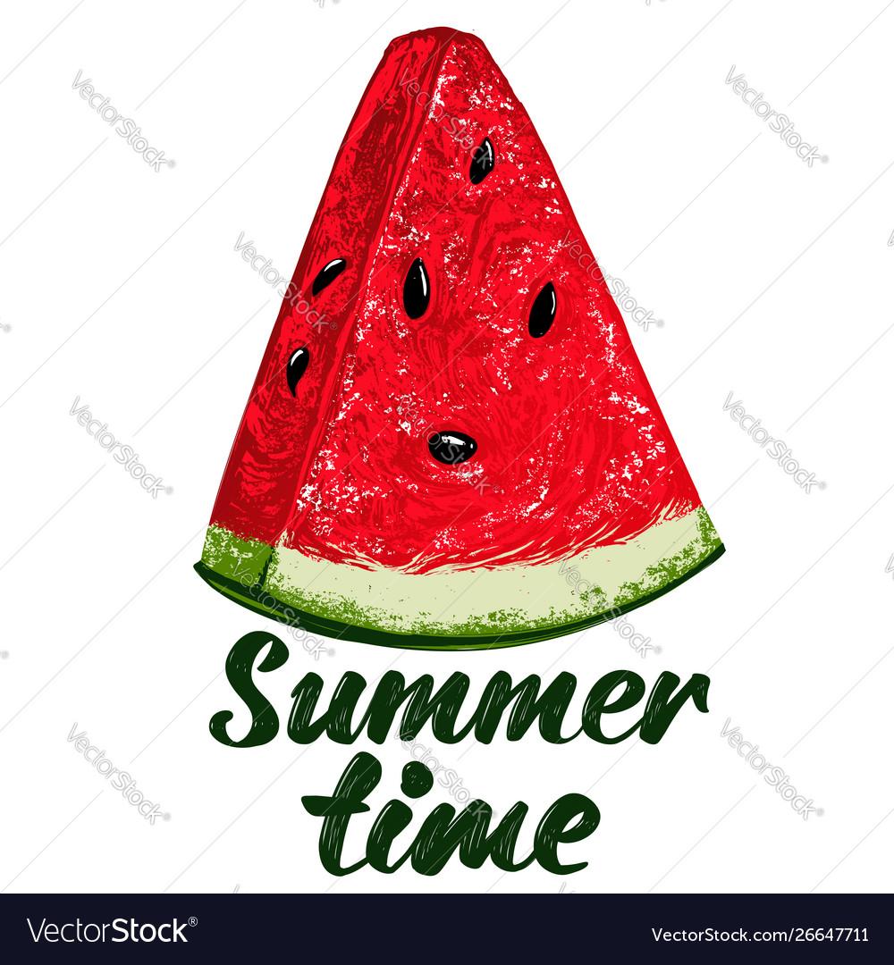 Fruit watermelon logo calligraphic text hand