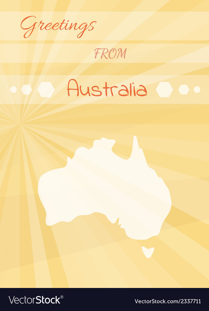 Greetings from australia royalty free vector image greetings from australia vector image m4hsunfo