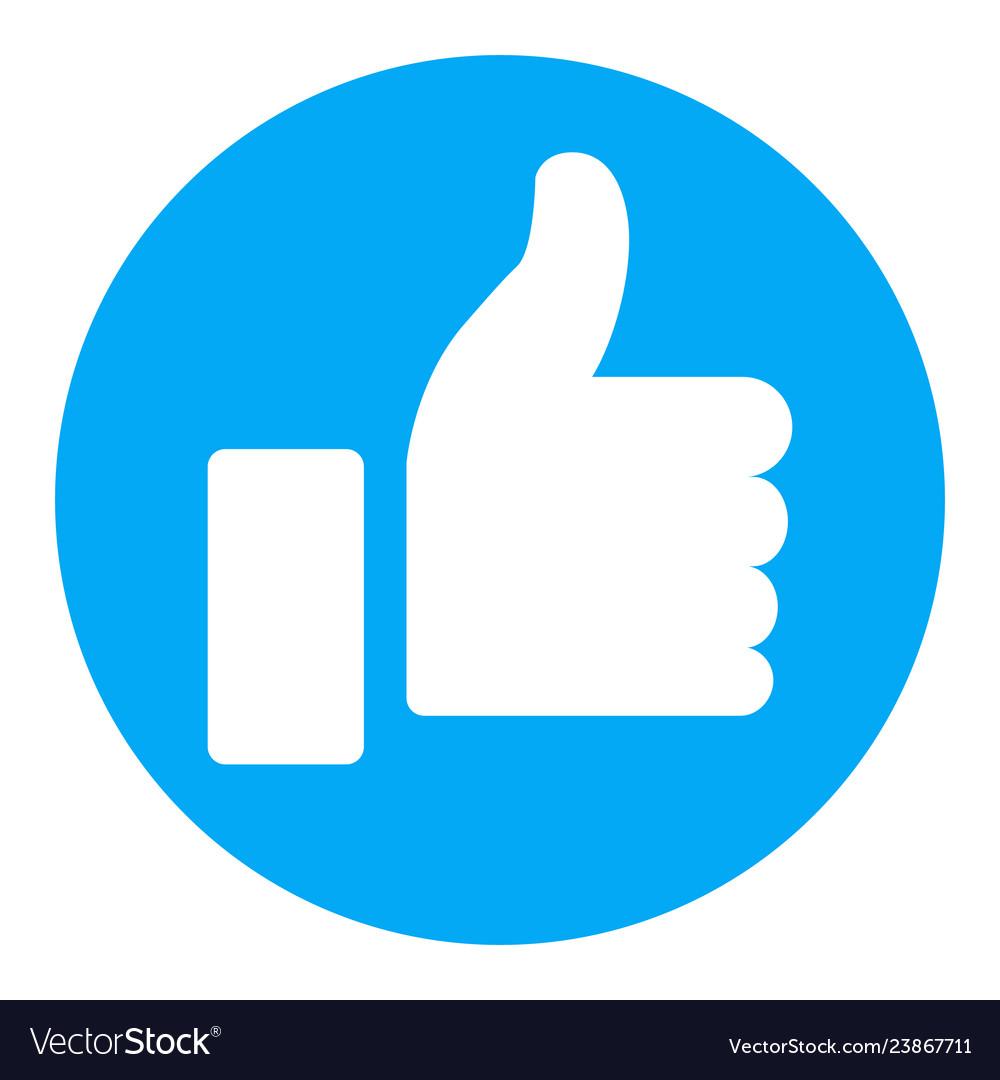 Thumb up symbol finger up icon Royalty Free Vector ImageThumbs Up Symbol