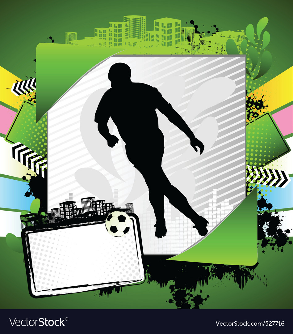 Abstract soccer summer frame vector image