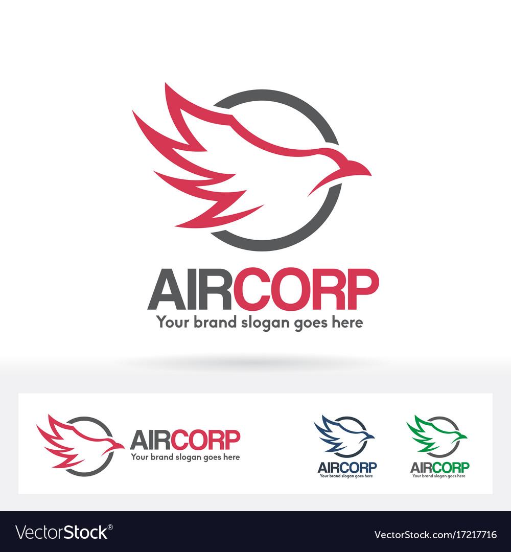Air company logo vector image