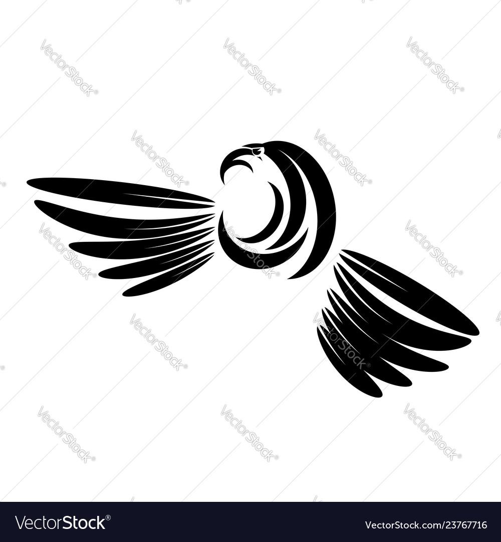 Eagle head tattoo design logo prey bird