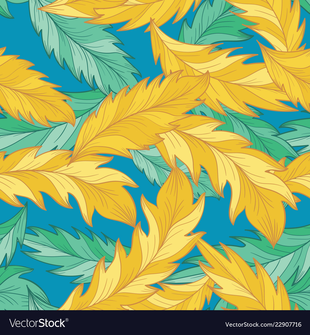 Elegant pattern with detailed palm feather