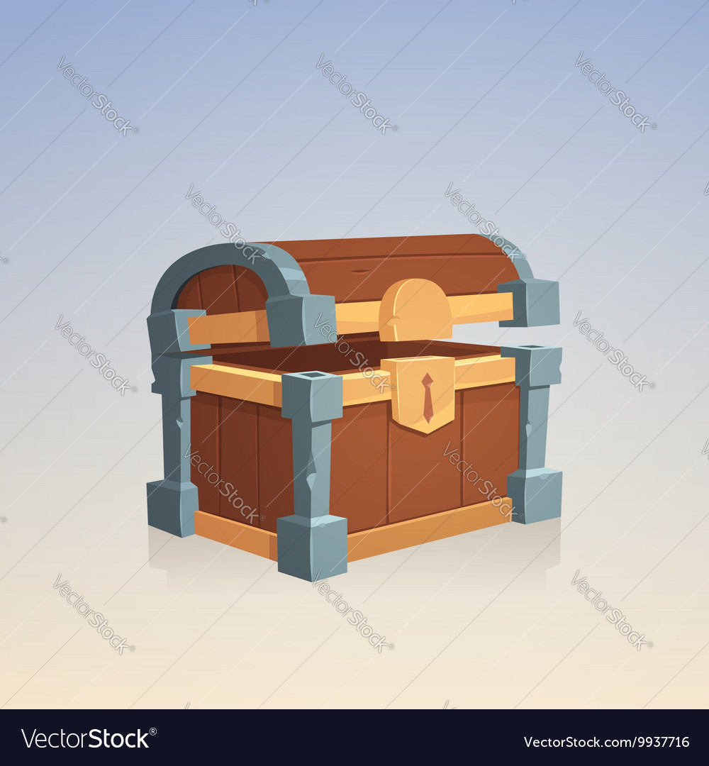 Empty Wooden Chest