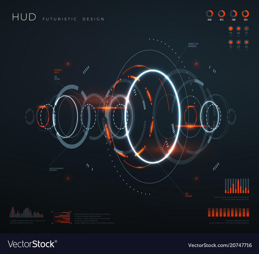 Futuristic virtual hud interface technology