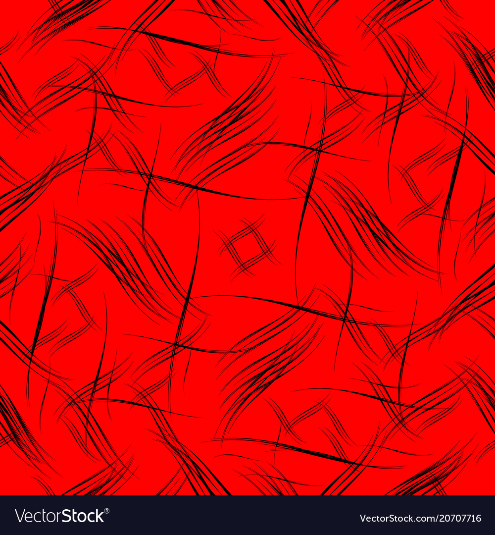 Pattern of smooth black lines on a red background