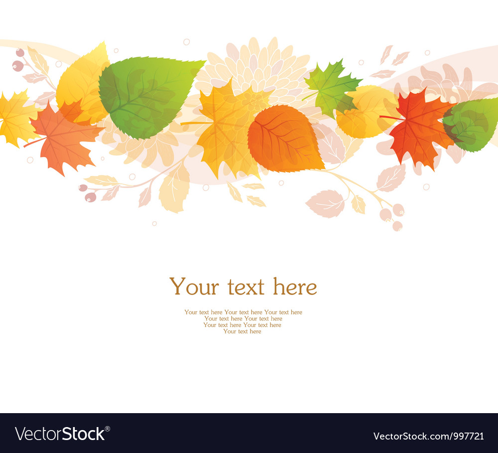 backgr autumn leafs royalty free vector image vectorstock