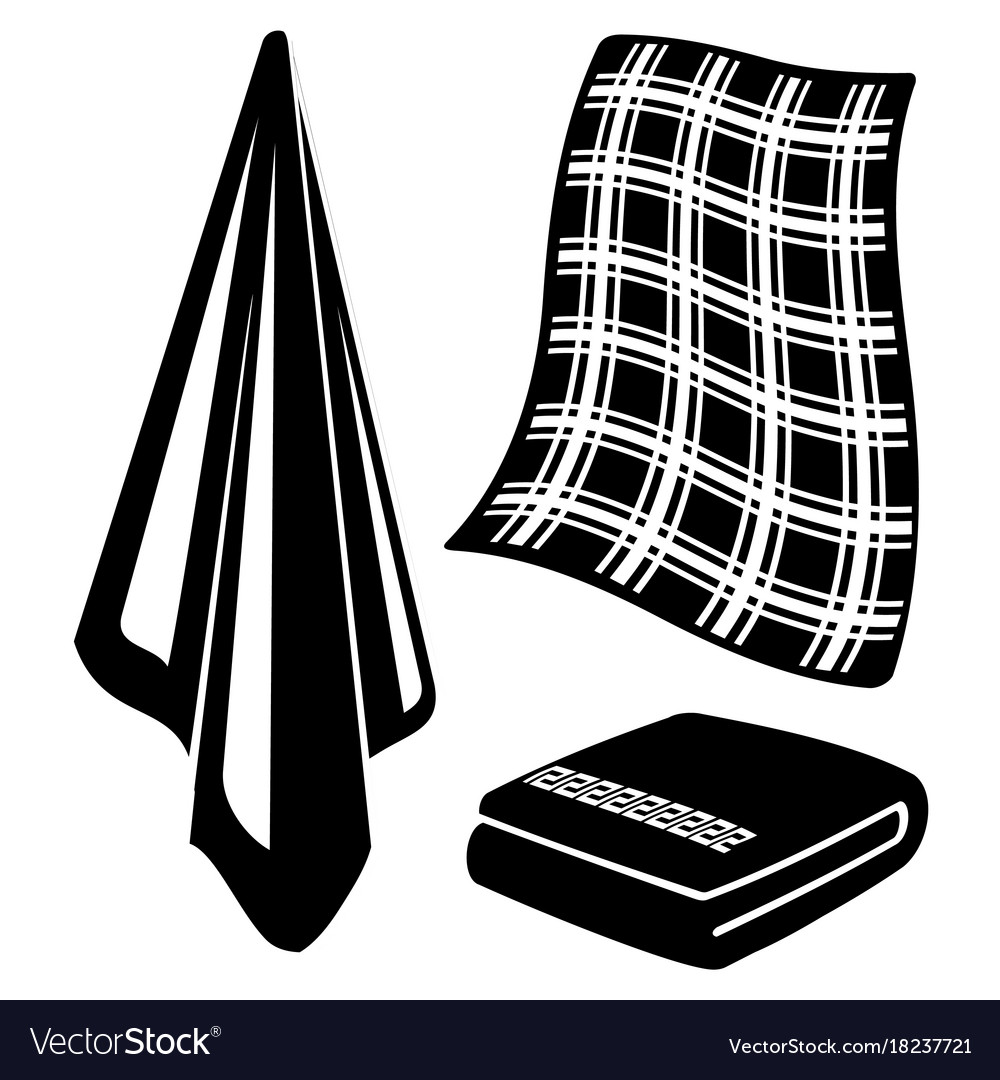 Black and white towels vector image