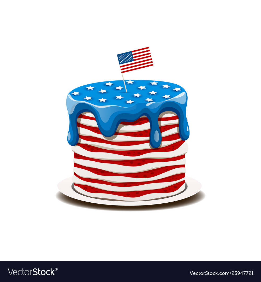 Cake in the colors of the american flag